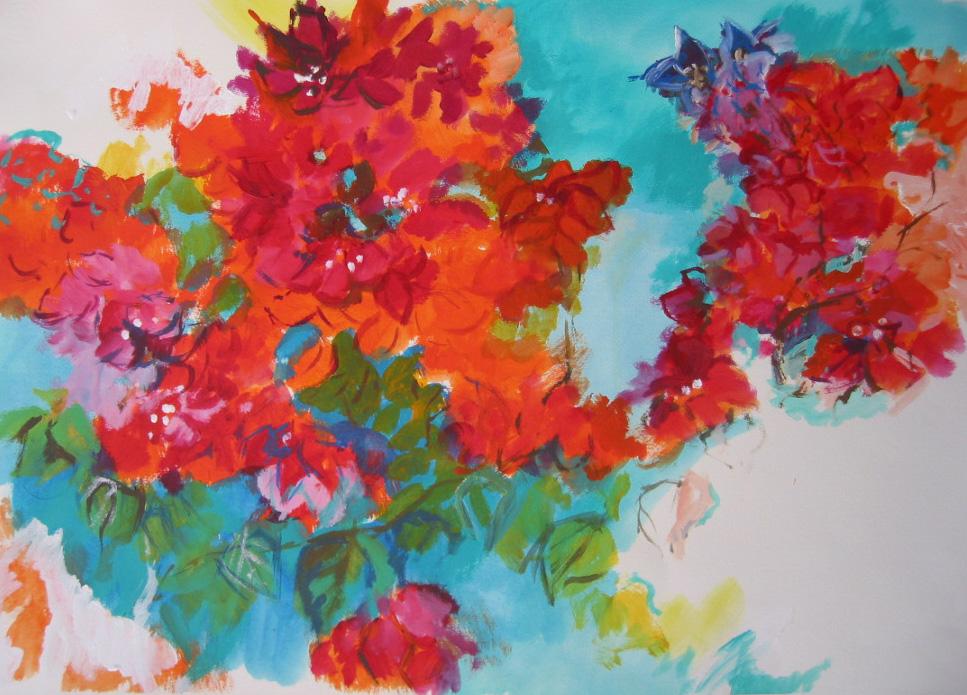 Pin schilderijen van bloemen on pinterest for Schilderijen van bloemen